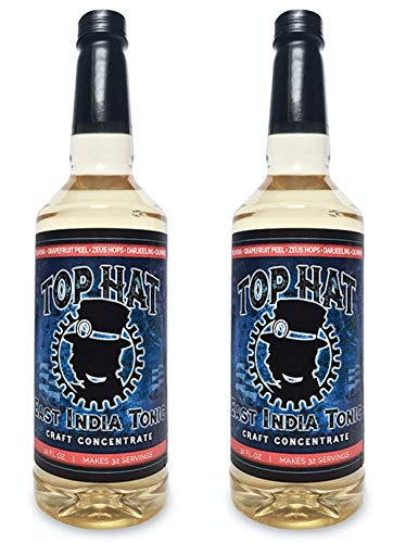 Top Hat Quinine Tonic Syrup - 5 times the Natural Quinine of Tonic Water (2 pack of 32oz Syrup Concentrate) - Make Tonic at Home - Works with SodaStream