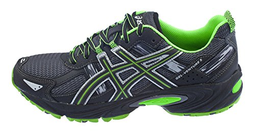 ASICS Men's Gel Venture 5 Trail Running Shoe, (8 D(M) US, Castle Rock/Black/Green)