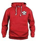 Sweat à Capuche de Rugby National du Football du Pays de Galles des années 1900, Tailles S-XXXL Logo brodé S Rouge