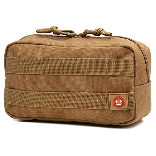 Orca Tactical Horizontal Multi-Purpose Molle Admin Pouch Utility EDC Tool Gear Gadget Waist Bag Organizer (Coyote Brown)