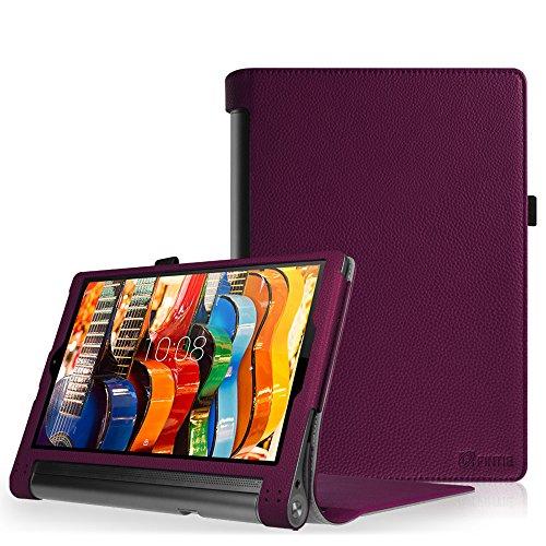 Fintie Folio Funda para Lenovo Yoga Tab 3 Pro - Slim Fit Carcasa de Cuero Sintético con Función de Soporte y Auto- Reposo/Activación para Lenovo Yoga Tab 3 Pro 10.1 Pulgadas, Morado