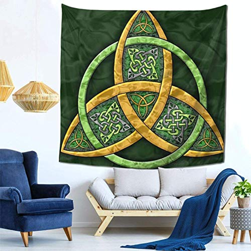 Lsjuee Celtic Trinity Knot Irish Tapestry Wall Hanging Home Decor Fan Art per Camera da letto Soggiorno Dormitorio