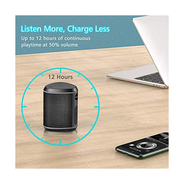 Portable Bluetooth Speakers, Wireless Mini Speaker with Stereo Sound Effect, Rich Bass, 60ft Bluetooth Range, Built-in Mic, Support AUX/TF Card, IPX6 Waterproof Outdoor Speaker for iPhone iPad 6