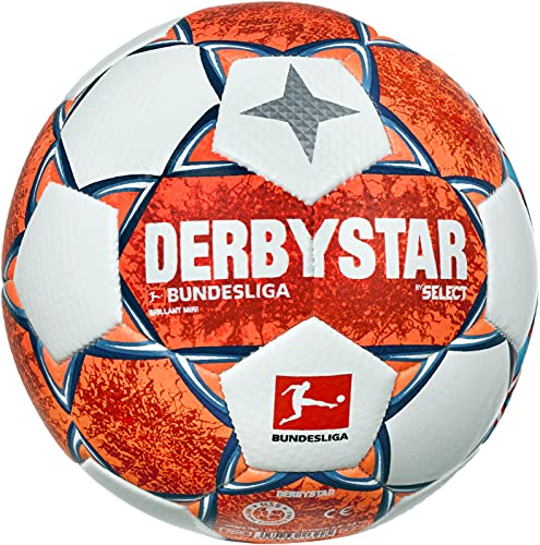 Derbystar Unisex– Erwachsene Bundesliga Brillant Mini V21 Fußball, Mehrfarbig, 47