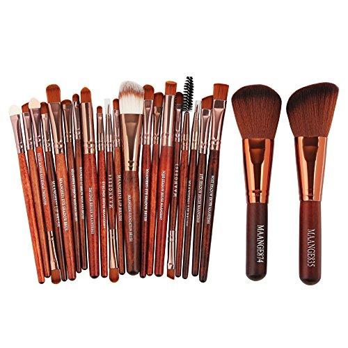 Pinceau Maquillage 22 Ensemble de Pinceaux de Maquillage Professionnel Brosse de Maquillage Synthétique Avancée Blush Foundation Concealer Kit de Pinceaux de Maquillage