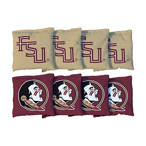 Victory Tailgate NCAA Collegiate Regulation Cornhole Game Bag Set (8 Bags Included, Corn-Filled) - Florida State FSU Seminoles (Corn Filled)