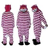 Black Sugar Mardi Gras(L) - Pijama de gato con diseño de Alicia en el País de las Maravillas Kigurimi - Pijama para adulto, unisex, de peluche suave, talla S a XL, disfraz de cosplay (164-168 cm)
