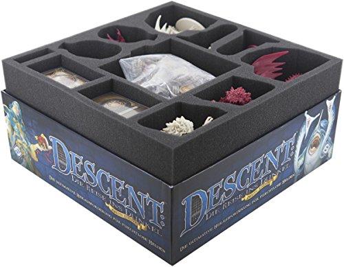 Feldherr Schaumstoff-Set kompatibel mit Descent 2. Edition: Reise ins Dunkel Brettspielbox