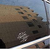 YJKIWX 2pcs Erstaunliche Anmut Jesua Vinyl Auto MotorradSticker Decals weiß 17,8 CM * 13,7 CM