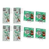 ButDillon 4Pcs 433MHz Wireless RF Ricevitore e Trasmettitore Modulo per Raspberry Pi e Arduino