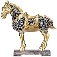 YJRZT 置物 オブジェ 動物 現代中国のホームアクセサリー馬の装飾品リビングルームワインキャビネット装飾クリエイティブオフィスソフト装飾工芸品