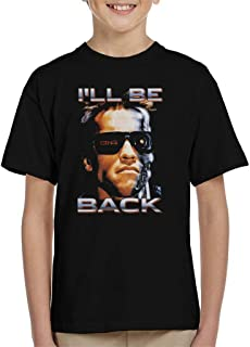 Terminator The Arnie Close Up Glasses Ill Be Back Kid's T-Shirt