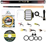 MAXIMUMCATCH Maxcatch Tenkara Rod Fly Fishing Rod Combo Kit 11/12/13ft(Telescoping Carbon Tenkara rod, Carry Case, Line, Tippet, Flies, Line nipper, Hook Keepers) (Rod Combo, 11ft)