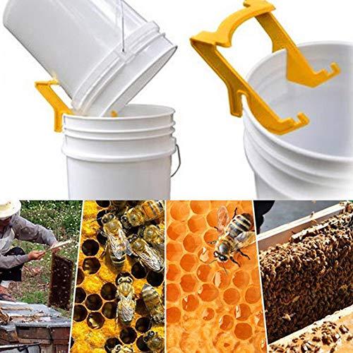 Herramienta para Apicultura de Apicultura Herramienta para Cortar Miel y Apicultura de Acero Inoxidable Panal de Abejas KINGLAKE Horquilla Equipo de Apicultura con Mango de Madera