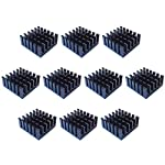 Easycargo 10pcs 22mm Heatsink Kit 22x22x10mm + 3M 8810 Thermal Conductive Adhesive Tape, Cooler Heat Sink for Cooling Raspberry Pi, SSD M.2 2280 GPU IC Chips VRAM VGA RAM (22mmx22mmx10mm)