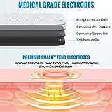 LiteTour 10 Piezas Electrodos para TENS Parches Electroestimulador 3.5 TENS Electrodos Masaje Gel Conductor Electrodos Parches para Electroestimuladores Electrodos Gelificados