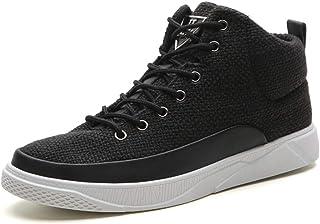 [D.IIZOO] 軽量 通気 8cm 6cm身長アップ シークレットシューズ メンズ スニーカー 背が高くなる靴 ハイカット カジュアルシューズ インヒールシューズ