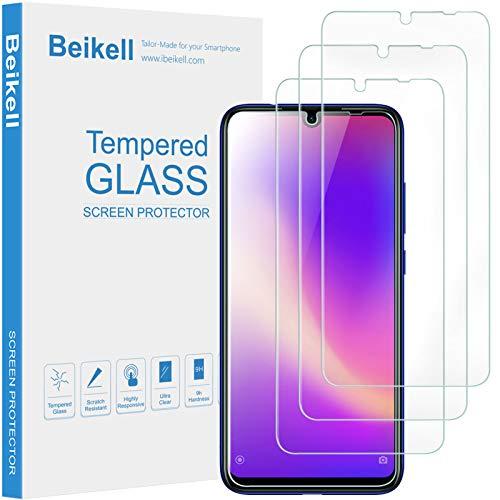 Beikell Protector Pantalla Xiaomi Redmi Note 7/7 Pro, [4 Pack] Vidrio Cristal Templado con 9H Dureza, Alta Sensibilidad, Anti-Arañazos, Anti-Huellas Dactilares, Sin Burbujas, Garantía de por Vida