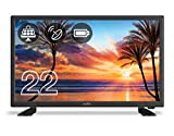 Cello C22227T2S1 22″ inch Battery Operated & Solar LED TV with Freeview T2 HD & Satellite Tuner Black