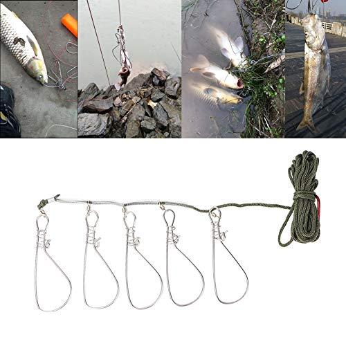 Pbzydu 1 PCS Fishing Stringer, Fishing Lock und Stable für Wild Fishing Sea Fishing