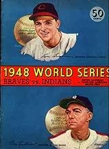 World Series Program 1948 Boston Braves vs Cleveland Indians At Braves Field