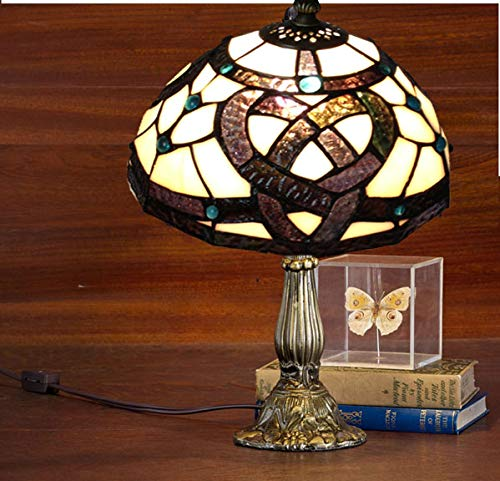 Stained Glass Table Lamp Irish Celtic Lamp Style Art Glass Desk Lamp Table Light St Patrick's Day Decoration, Irish Gift Irish Family Lamp Irish Shamrock Desk Lamp (Irish Celtic)