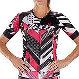 Zoot Equipo de diseño de Camiseta de triatlón Femenino Aero con Mangas, Detalles Reflectantes y Tejidos de Malla Vento para la transpiración y la compresión Tamaño...