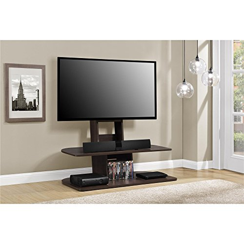 """Ameriwood Home Galaxy TV Stand with Mount for TVs up to 65"""" Wide, Espresso"""