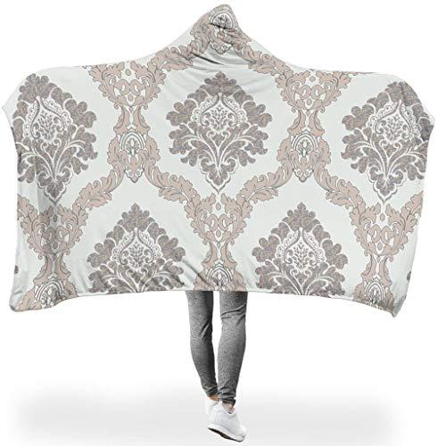 Ainiteey Patroon, thermisch heldere kleuren, draagbare sprei met capuchon, 3D-print voor bank in de lente of herfst of winter, warme stijl patroon