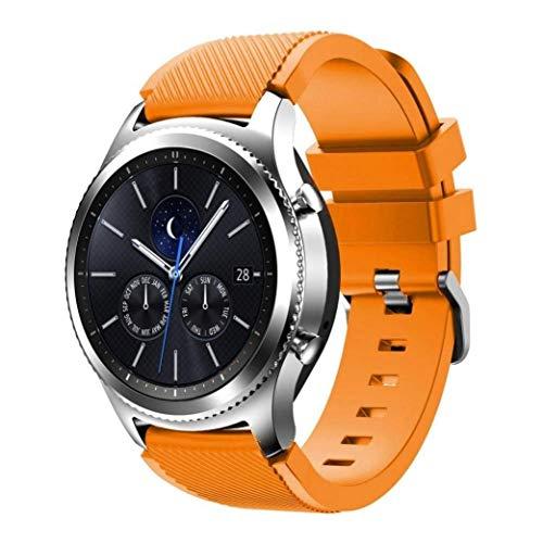 Shieranlee 22mm Cinturino Rilascio Rapido Pelle Metallo Silicone Braccialetto Cinturini Bands Straps Compatibile con Gear S3/Galaxy Watch 46mm,Huawei Watch GT,Pebble,Ticwatch,Moto