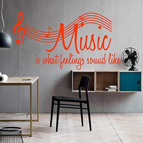 Personalisierte Musik Selbstklebende Vinyl Wasserdichte Wandtattoo Für Wohnkultur Wohnzimmer...