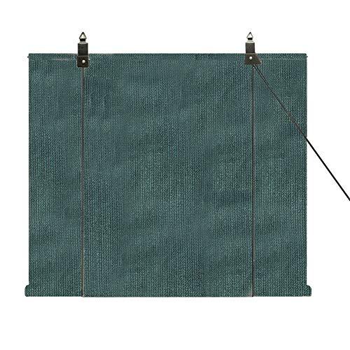 QIANDA Store Exterieur Enrouleur, Clôture Protection UV Intimité Canopée Perméable Polyester Rideau Panneaux for Office, Patio, Plate-Forme (Size : 120x160cm)