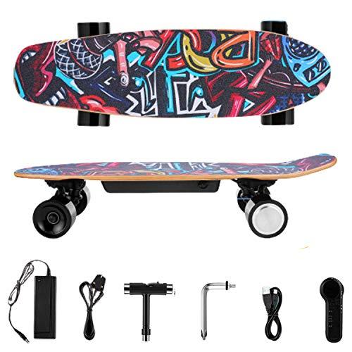 WOOKRAYS 25,4 Zoll E-Skateboards mit 350W Motor 3-Gang Elektro Skateboard, Elektrische Skateboard mit 29.4V 2200mAh Lithium Akku 7 Schichten Ahornholz für Kinder, Jugendliche und Erwachsene