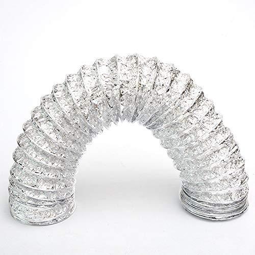 Tubo de Manguera de Ventilación, Fuerte Tubo Flexible de Aluminio, Aire Climatización Secadora Conducto de Aire de Ventilación Sistemas, Resistencia a altas temperaturas, para Extractor (ø 300mm/6m)