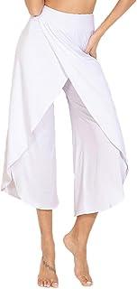 YOFIT Women's Elegant High Waist Palazzo Trousers Wide Leg Bootleg Pants Baggy Trousers Harem Pants Long Loose Flared Pants
