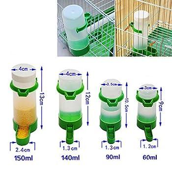 DeWin Abreuvoir Cage Oiseaux - mangeoire/Abreuvoir pour Oiseaux en Plastique Cage Automatique pour nourrisseur d'eau de semence pour Perroquet Perruche (140ML)