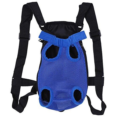 Transport-rugzak voor honden, modieus, voor dieren met vijf gaatjes 25-45 cm, S, Blauw