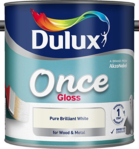Dulux Once Gloss Paint For Wood And Metal - Pure Brilliant White 2.5L
