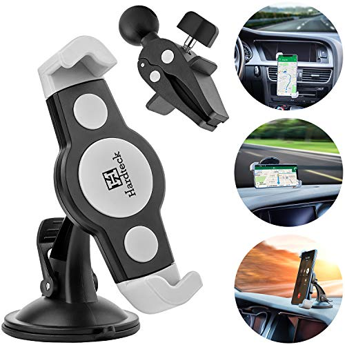 4 in 1 Car Mount for Phone Cradle 360° Rotation by One Quick Release Button Super Steady Air Vent Phone Holder Fit with Dashboard Windshield Air Vent