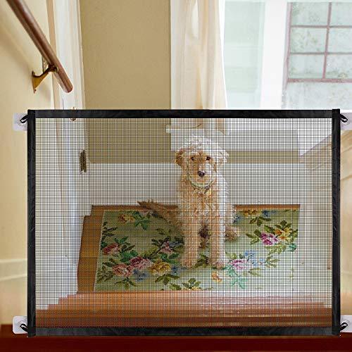 OYOZ Magic Gate, Pet Safety Enclosure, Portable Folding Safe Guard Install Anywhere (Black)