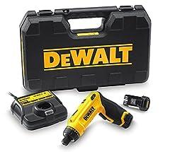 DeWalt sladdlös ledad skruvmejsel (7,2 V, 1.0Ah, tvålägeshandtag (pistolhandtag och stånghandtag), 16-stegs vridmoment, diodring med två LED,inkl. två Li-Ion-batterier, snabbladdare och transportfall), DCF680G2