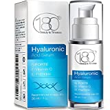 180 Cosmetics Serum a l'acide hyaluronique FORTE + vitamine C . La Meilleure gamme au monde de soins pour la peau. Hautement Concentree en acide hyaluronique - EXTRA FORT POUR DE MEILLEURS RESULTATS!