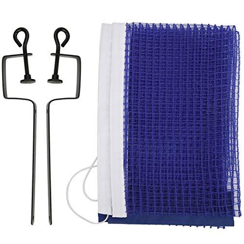 Qqmora Red de mesa de tenis con soporte Net de ping-Pong ligero para sustituir el antiguo y la ruptura de red de tenis de mesa (azul)