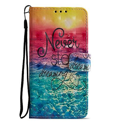 Unisnug Funda Cartera Redmi Note 9 Pro/Note 9 Pro Max/9s,Carcasas Flip Cover Case para Samsugn Redmi Note 9 Pro Funda con Tapa Rigida-#2Rojo & Azul