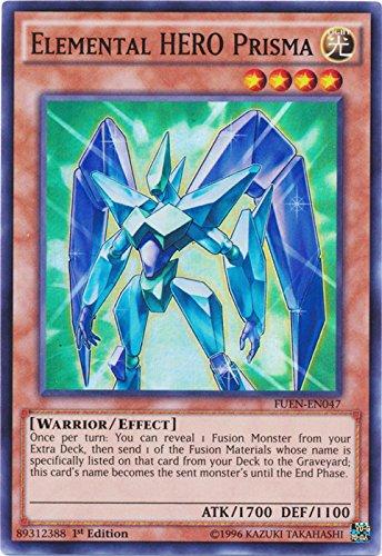 yu-gi-oh Elemental Hero Prisma - FUEN-EN047 - Super Rare - 1st Edition - Fusion Enforcers