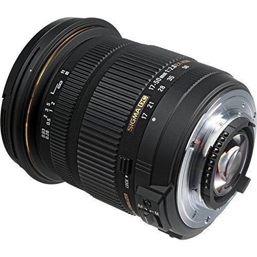 Sigma 17-50mm f/2.8 EX DC OS HSM Zoom Lens for Nikon DSLRs with APS-C Sensors + Deal Expo Accessories Bundle
