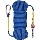 Extérieur corde d'escalade de 10 mm abseil sauvetage résistant à l'usure corde de parachute de secours corde durable for le travail alpinisme à des explosions de hauteur de travail auxiliaire FACAI