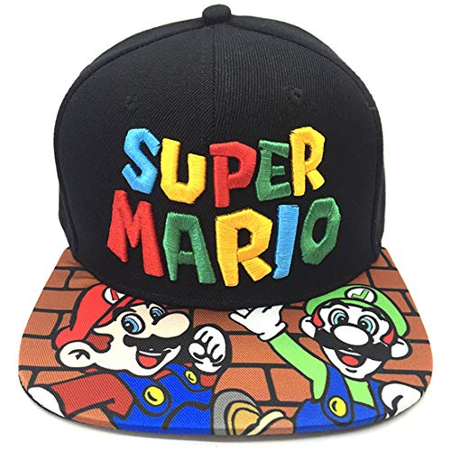 Enjoyfeel Baseballmütze, Super Mario Hysteresenhut, modische weiche Baumwolle, Größe verstellbar (3)