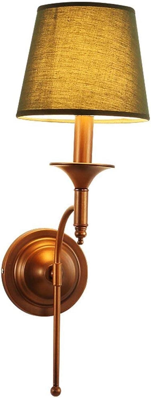 Hai Ying  Amerikanischen Retro Wandleuchte Schlafzimmer Wandleuchten Nachttischlampe Wohnzimmer Studie Leselampen Balkon Flur Lichter Zwei Farben (Design  2)