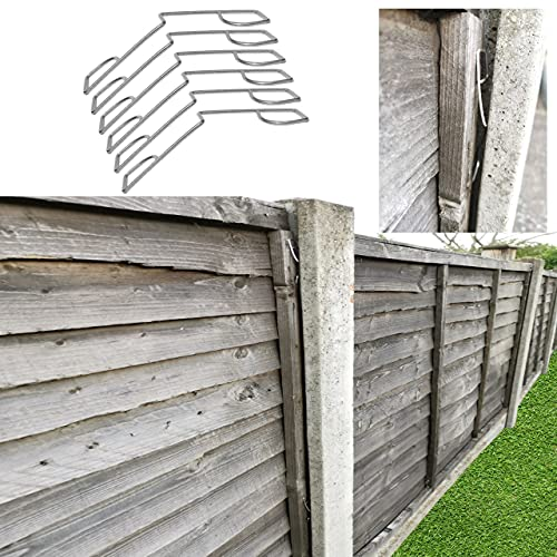 LTG PRO Fence Panel Grips Clips Stop Rattling 48 Pcs for 12 Fences Garden Wind Protector (48)